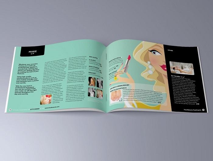 Thiết kế catalogue tông màu xanh pastel