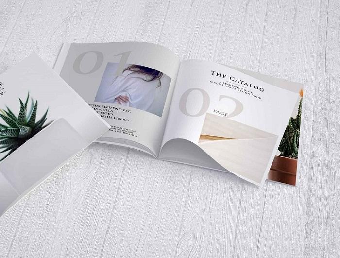 Catalogue lấy cảm hứng thiết kế từ tạp chí làm đẹp
