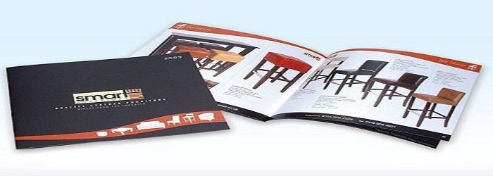 Catalogue thiết kế với tông màu đen - cam ấn tượng