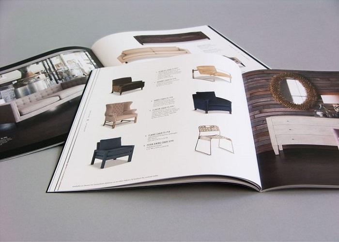 Catalogue có tông màu chủ đạo nâu - trắng