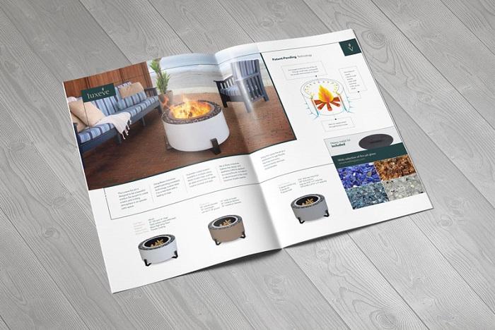 Thiết kế catalogue ấn tượng, chia theo màu sắc