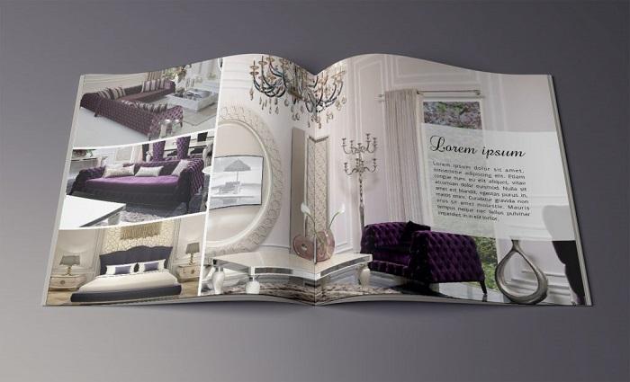 Catalogue được thiết kế chi tiết, sử dụng hình ảnh chân thực