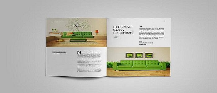 Catalogue nội thất thiết kế với bố cục rõ ràng