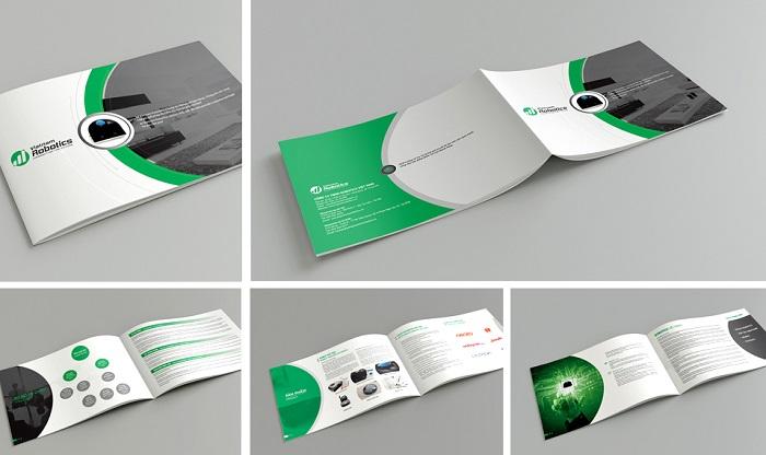 Catalogue thiết kế đơn giản, tinh tế với tông xanh - đen