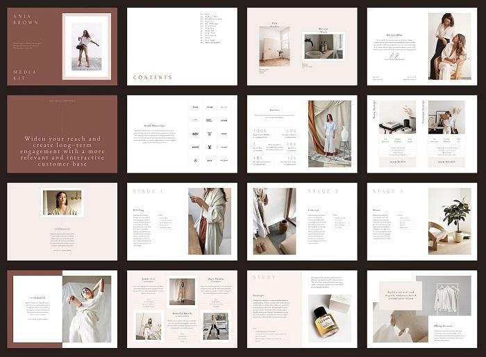 Mẫu catalogue thiết kế với màu sáng trắng nhẹ nhàng