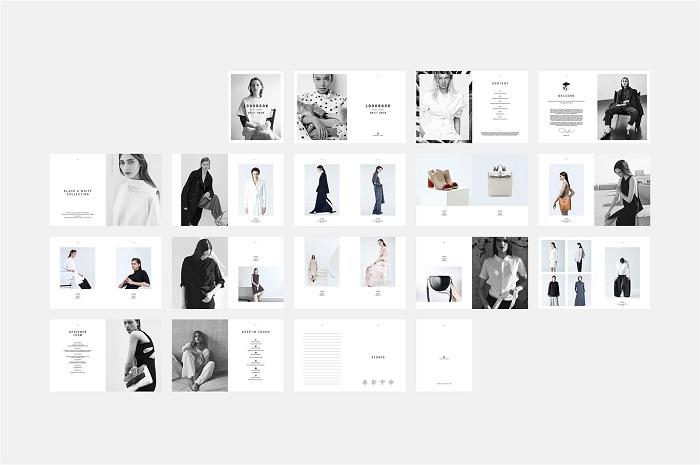 Catalogue thiết kế theo tông màu trắng chủ đạo