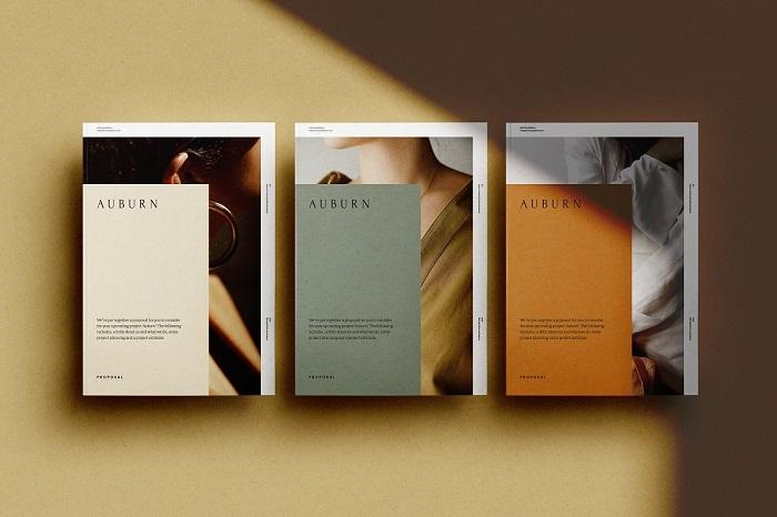 Catalogue thiết kế theo phong cách tối giản