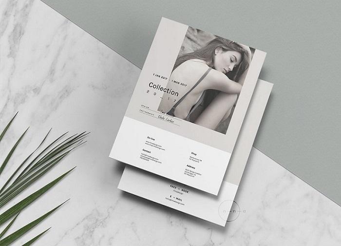 Thiết kế catalogue tông màu trắng - đen lạ mắt