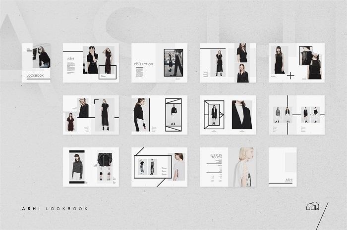 Mẫu catalogue thiết kế theo tông màu đen ấn tượng
