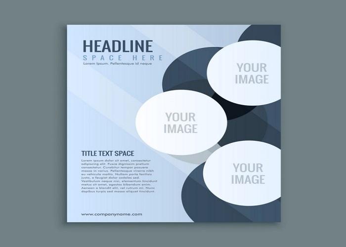 Tông màu xanh nhạt ấn tượng trong thiết kế catalogue