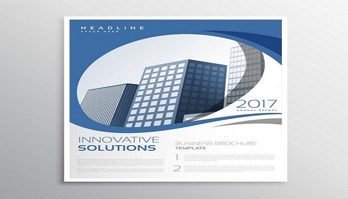 Catalogue tông xanh - trắng ấn tượng