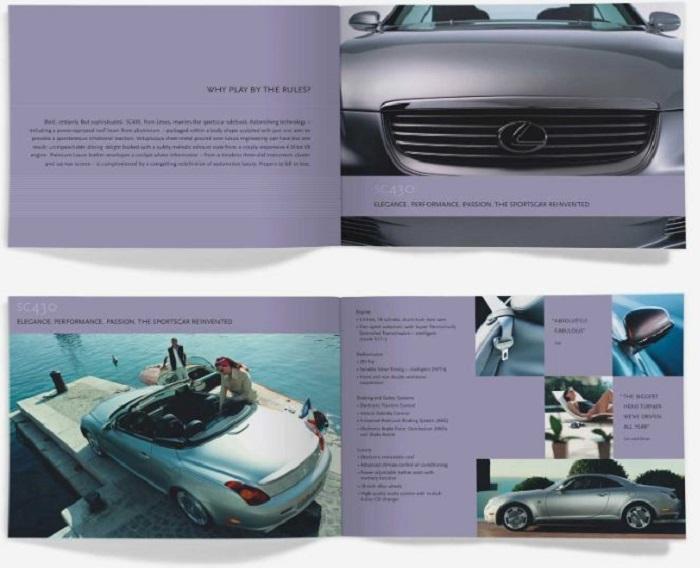 Catalogue có tông màu tím gây ấn tượng mạnh mẽ