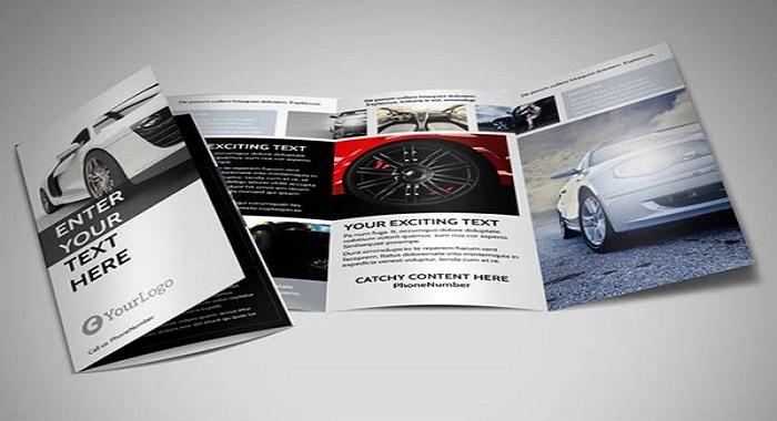 Catalogue tông đen trắng phối hợp hài hòa